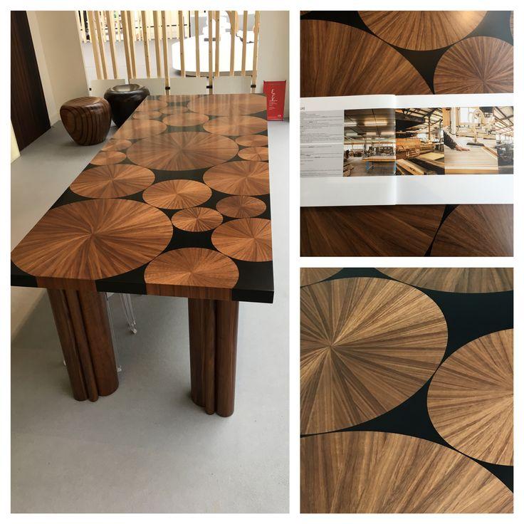 """LAMELLUX Venez découvrir notre table marqueterie """"Soleil"""" Noyer et LxResin noire. (Stand d1-Révélations 2017) Plus que 2 jours !!! à très vite!  #lamellux #salon #revelations #salonrevelations #paris #grandpalais #lxresin #empreinte #naturbois #nidatub #vibrato #lumine #quertec #albatre #alabaster #luxe #metiersdarts #madeinfrance #ebenisterie #architecture #architecturedinterieur #agencement #craftmanship #luxury #design #interior #interiordesign #woodwork #bespoke"""