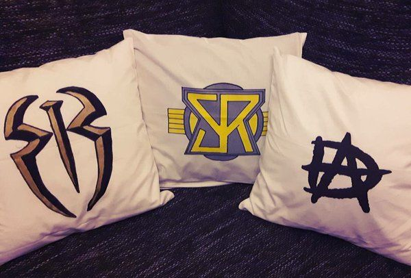 OMG Roman Reigns Seth Rollins and Dean Ambrose Logo Pillows I want Them