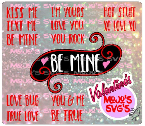 Valentine Layered Sayings Labels or Tags with 12 sayings Valentine's Day SVG Cut File Valentine svg Valentines svg Valentine's SVG design by MojosSVGS on Etsy