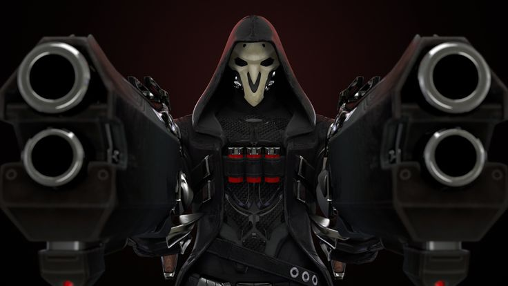Reaper Overwatch Guns   Reaper Overwatch Guns is an HD desktop wallpaper posted in our free image collection of gaming wallpapers. You can download Reaper Overwatch Guns high...