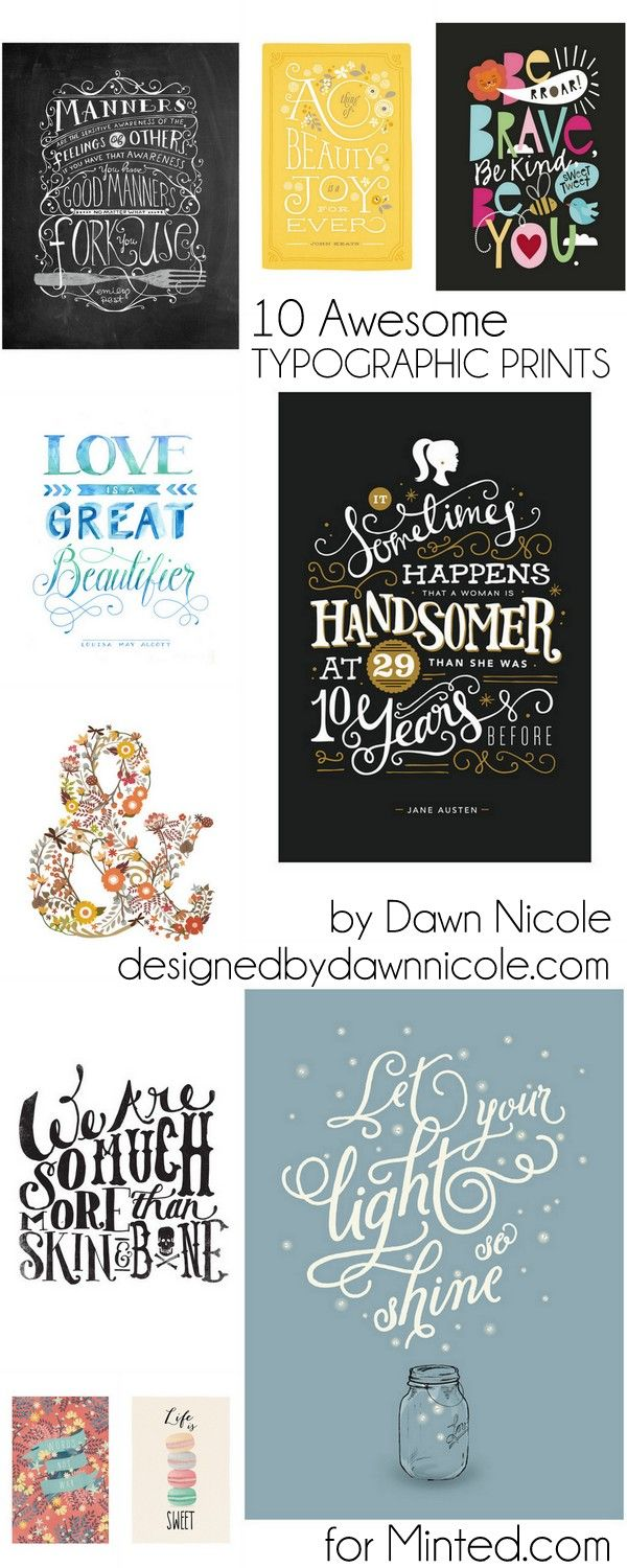 10 Awesome Typographic Prints for Your Home