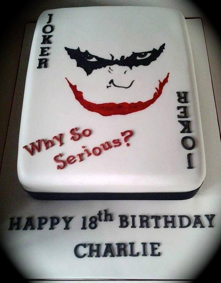 Handmpainted Batman Joker themed cake by www.facebook.com/cakeinspirations