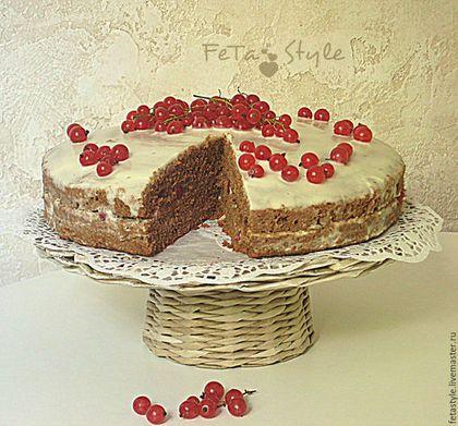 """Кухня ручной работы. Ярмарка Мастеров - ручная работа. Купить Подставка плетеная для торта  """"Ma cuisine"""". Handmade. Подставка для торта"""