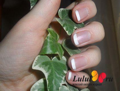 Французский маникюр на коротких ногтях. Мастер-класс с фото