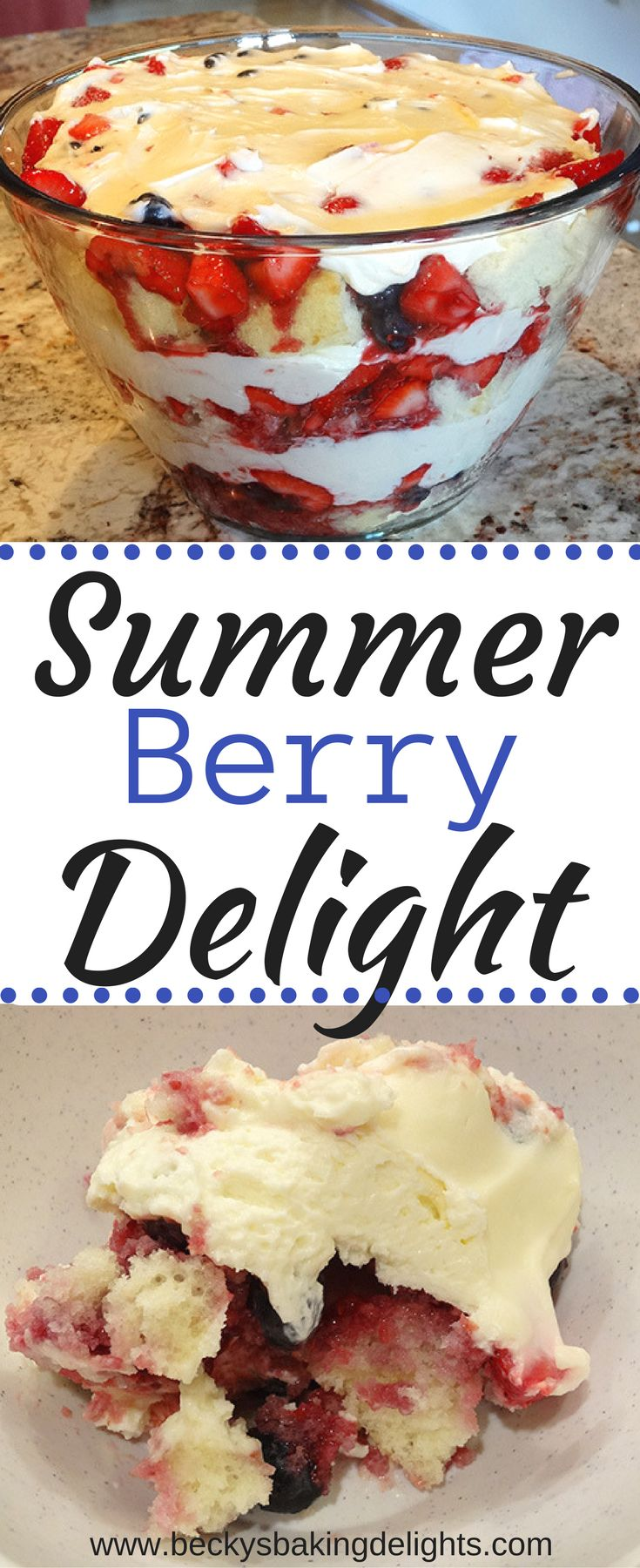 Fresh berries, a moist white cake, and homemade whipped cream. Delicious and light tasting. Great to serve for a crowd or at a party.