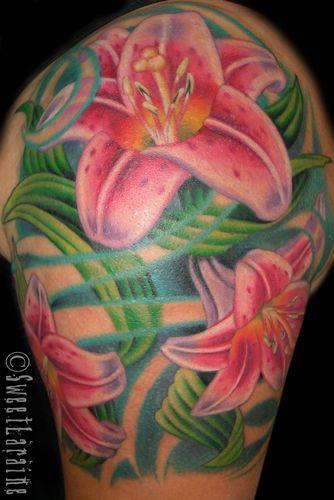 stargazer lilies tattoo