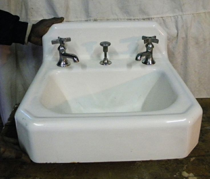 Vintage Wall Sink : Antique Wall-Hung Sink Bath Pinterest