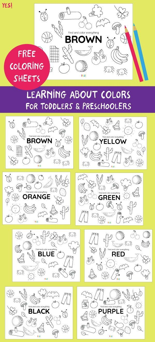 Teaching Kids About Colors Free Printable Coloring Pages About Colors Color Worksheets For Preschool Color Lessons Colors For Toddlers [ 1320 x 600 Pixel ]