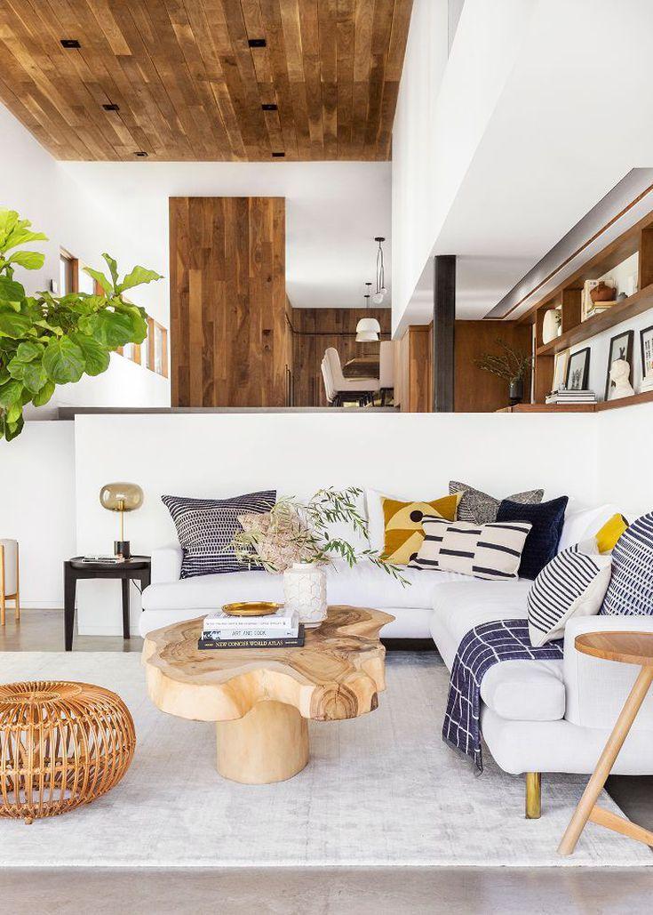 Design Decor Organic Living Room Emily Henderson Living Room White Sofa Living Room