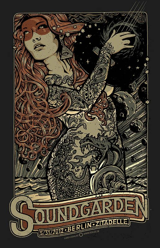 Soundgarden gig poster by Lars Krause – Tommy Brix