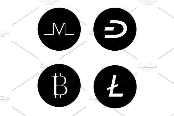 Cryptocurrency glyph icons set Commercial Commercial Pinterest - fresh blueprint 3 commercial