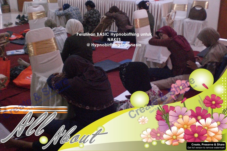 With Hypnobirthing Indonesia, I Trained Midwife, Obstetrician, Nurse about Hypnobirthing  Would You Like To Join With Us?