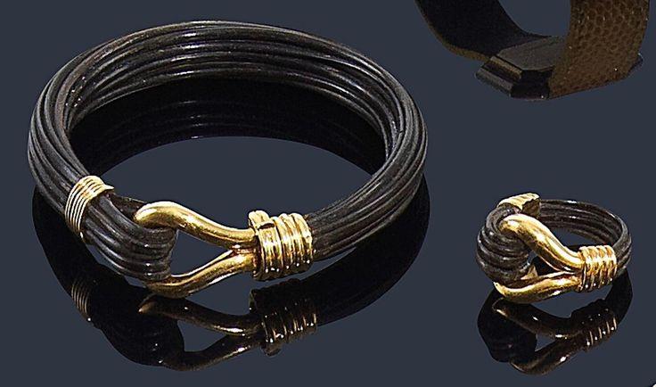 Resultado de imagen para modelo de sortijas de  oro de 18 kilates con pelo de elefante