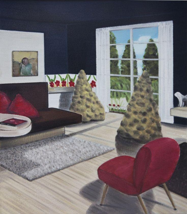 Graham Fletcher, Untitled (Sugar Loaf Waka), 2013, oil on canvas, framed, 360 x 300mm
