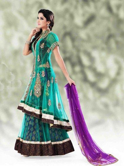 http://www.silkmuseumsurat.in/lehenga_choli/captivating-green-long-choli-lehenga