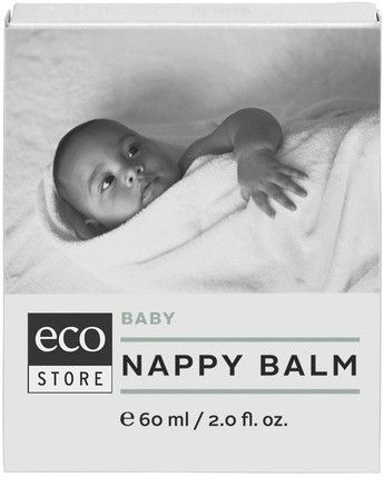 Baby Nappy Balm - Eco Store - Our nappy balm is rich in antioxidants, is non greasy and non staining and helps create a protective barrier uniquely aligned to the skin's natural chemistry. Use for nappy rash, cradle cap and other sensitive skin conditions. Plant based skin balm for your baby with active Horopito extract to protect and soothe their young and delicate skin. 60ml.