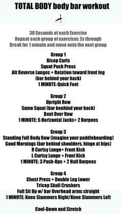 TOTAL BODY Body Bar Workout. — FITSOUFFLE