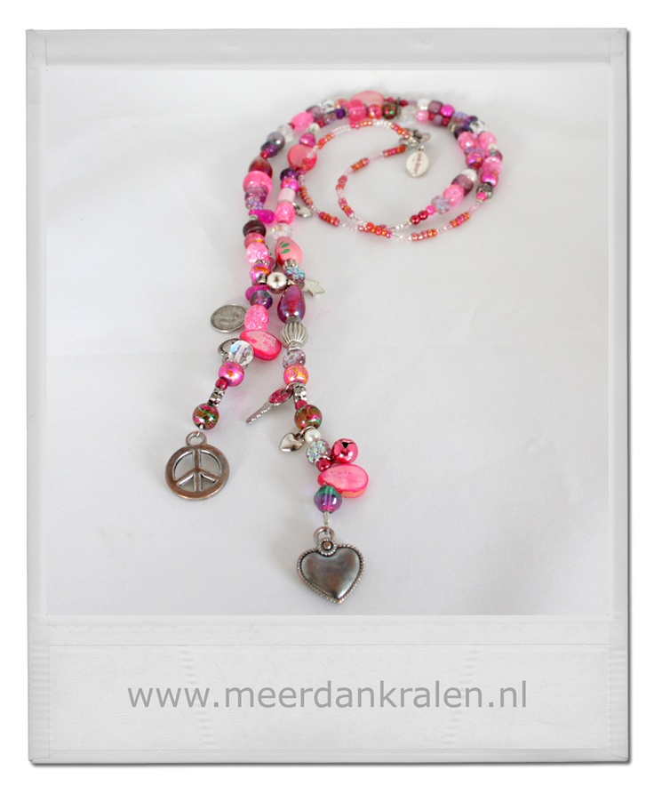 Pink Ribbon ketting