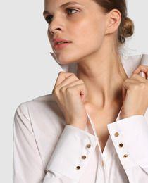 Camisa de mujer Tintoretto blanca con botones dorados