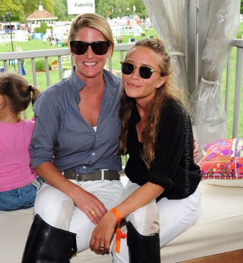 Mary-Kate attending Hampton Classic Horse Show last year (2015). Pictured here…
