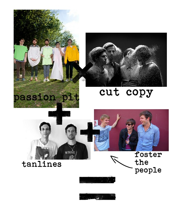 {BAND MATH} passion pit x cut copy + tanlines + foster the people = CAROUSEL!