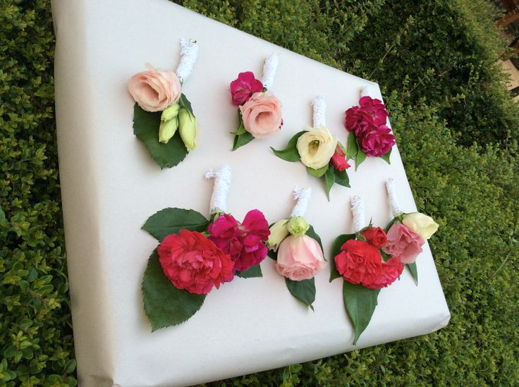 Bright corsages