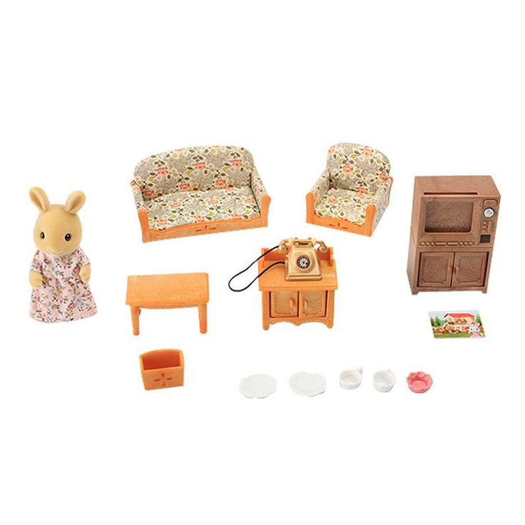 Item Name : Sylvanian Families Country Living Room Set.   Item Condition :  NEW In Part 98