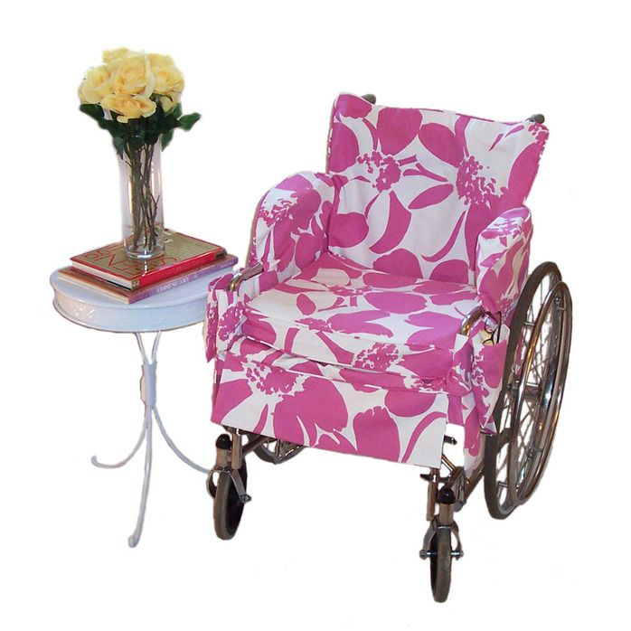 Fashion wheelchair covers in various colors.