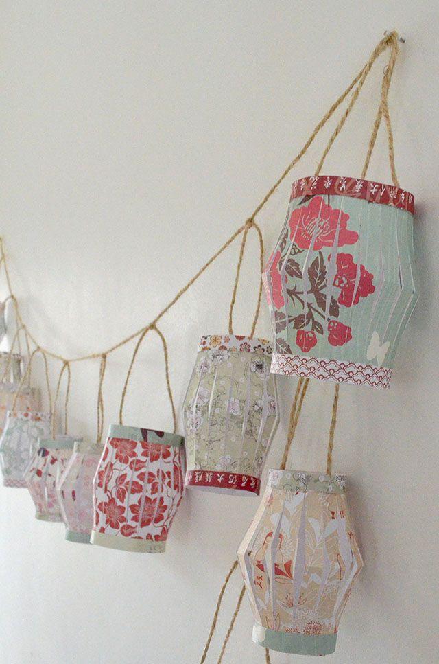Make Your Own Paper Lantern Garland