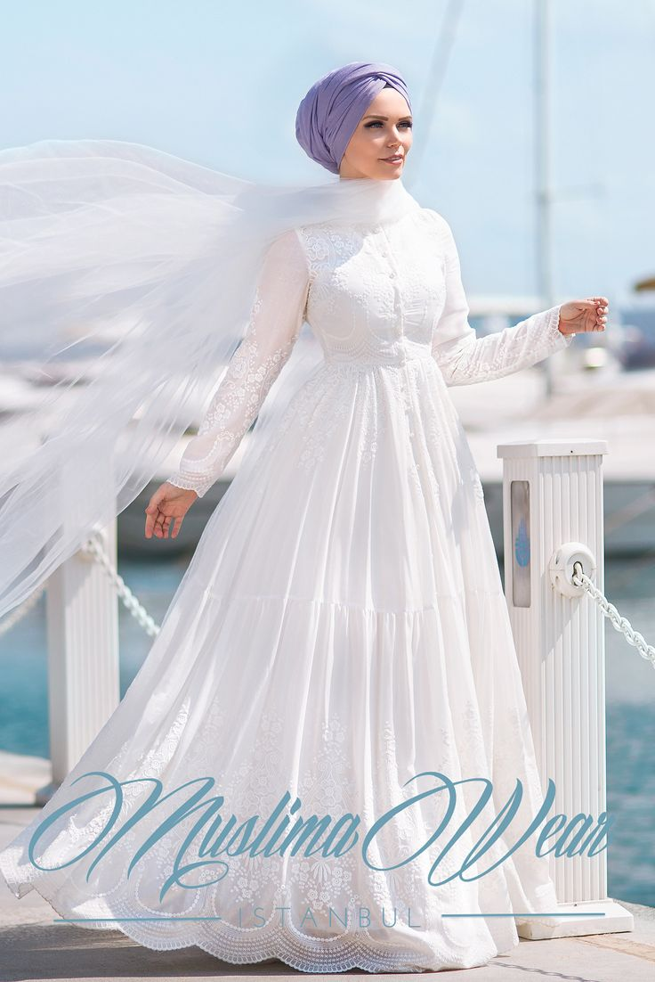 PURE COTTON EMBROIDERY DRESS WHITE CREAM - Muslima Wear