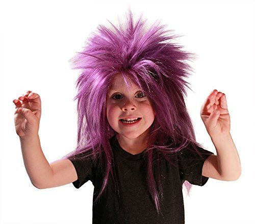 My Costume Wigs Evil Minion Punk Wig (Purple) One Size fits all *** Click on the image for additional details.