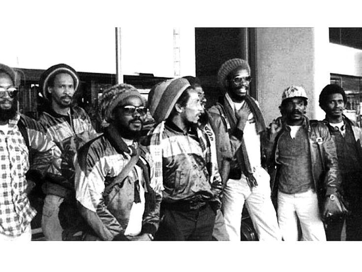 # euro uprising tour 1980 - Gilliy. Neville. Fam. Bob. Seeco. Wya. Carly. Errol B. - BOB MARLEY & THE WALKERS.