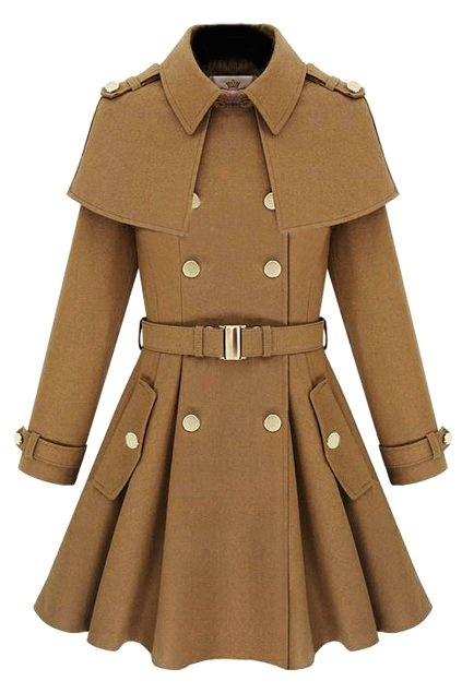 Brown Double Breasted Womens Winter Coats - Double Breasted Womens Winter Coats