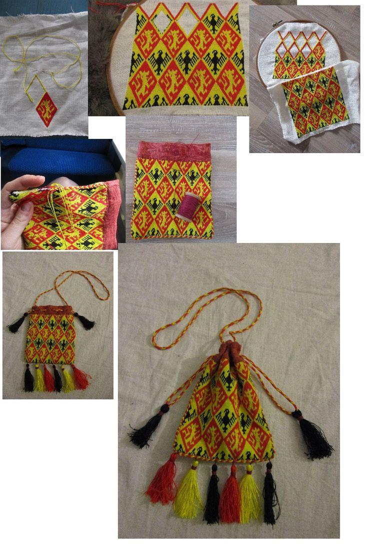 Brickstitch medieval bag