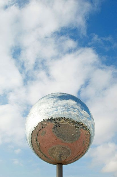 The world's largest disco ball, Blackpool. 46,000 mirrors