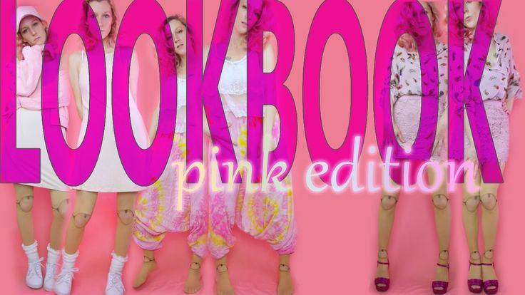 Aesthetic Lookbook, ep 1, #pinkaesthetic #lookbook #youtube #harempants #bomberjacket #miniskirt