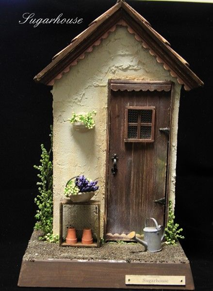 Garden shed B | figurine | Satu Mom | handmade mail order and sales Creema