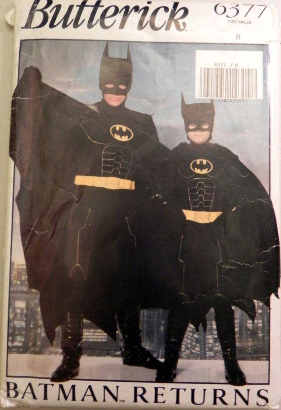 Butterick 6377 Childrens Batman costume by retroactivefuture, $30.00