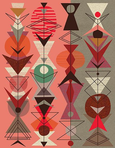 Nice inspiration piece #patterns #textiles Overlapping of shapes SQUARE, TRAINGLES AND SQUARES