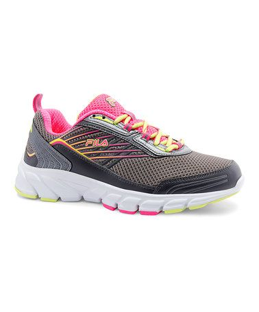 Dark Gray & Pink Forward 3 Running Shoe #