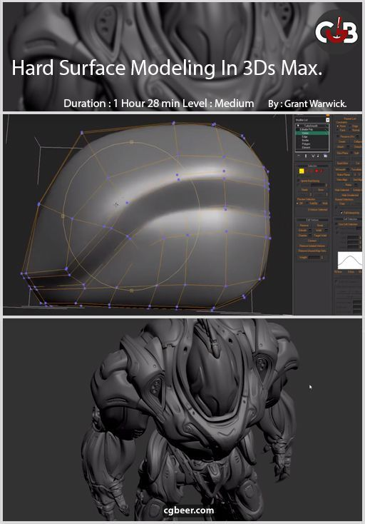 Mastering Hard Surface Modeling – Essentials in 3ds Max in 2019 | 3d