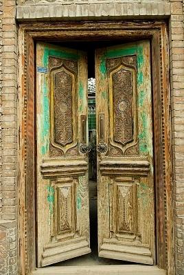China, Xinjiang, Yarkand, old traditional Uyghur dwelling