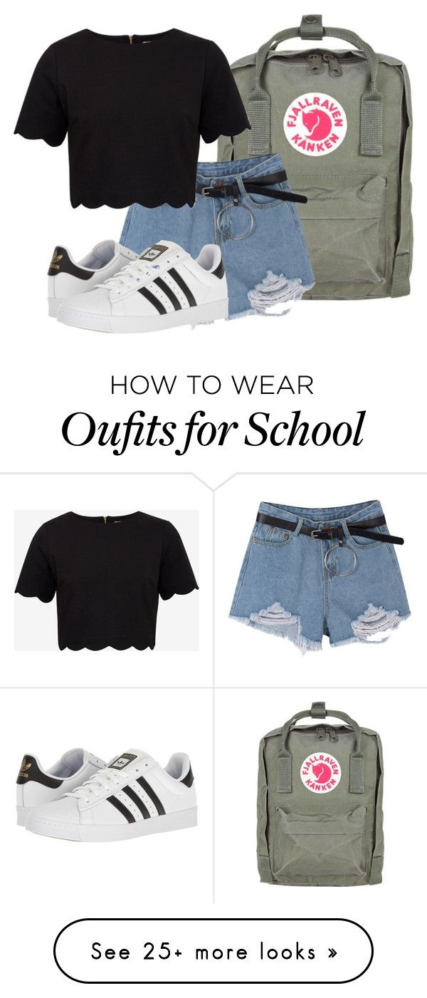 """""""back to school (2)"""" by katreesespieces on Polyvore featuring Fjällräven, Ted Baker and adidas"""