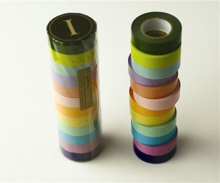 Washi Tape - Cores Sólidas R$12.00