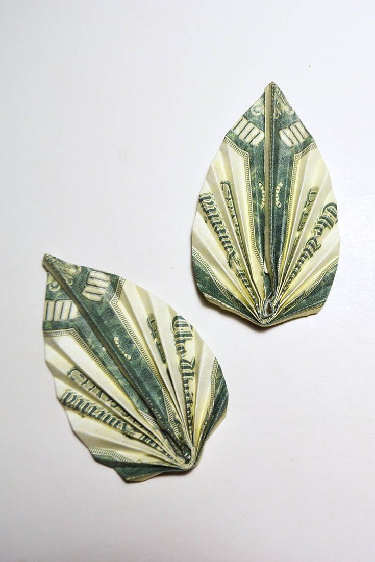 58 best money dollar origami images on pinterest money leaf origami dollar tutorial diy folded if you are making a flower of banknotes then you definitely need this money leaf to do it simply and quickly jeuxipadfo Image collections
