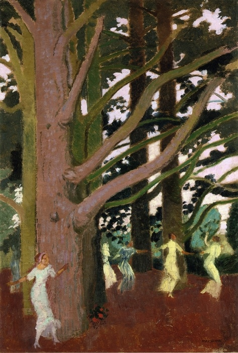 Maurice Denis - Dancing around the Large Trees at Perros, 1914.