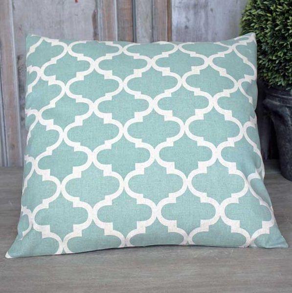 Trellis cushion Aqua - £24.00 - Hicks and Hicks
