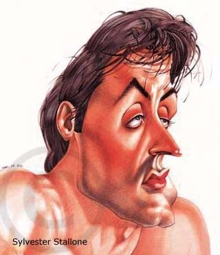 Sylvester Stallone by Celebrity caricatures -