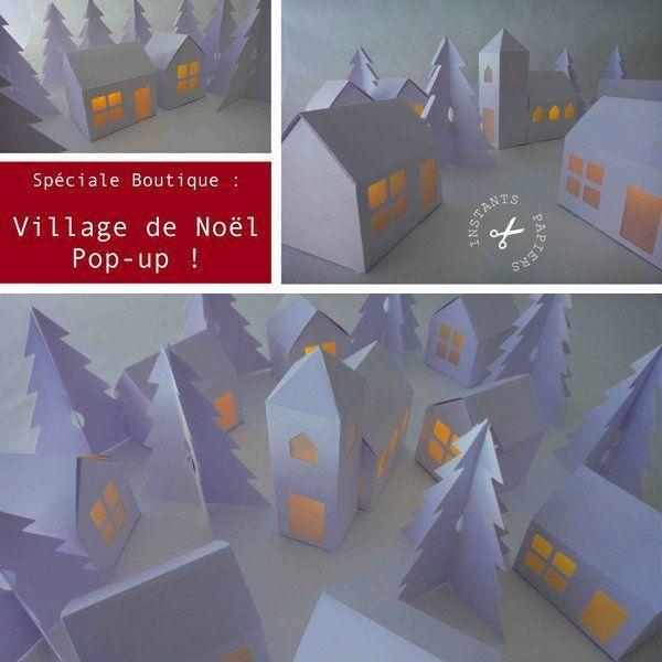 Village de Noël à télécharger - Christmas village to download