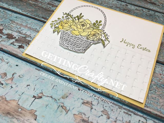 Getting Crafty with Jamie: Easter Basket of Blossoming Flowers handmade card #BloomingBasket #SaleABration #StampinUp www.GettingCrafty.net